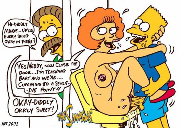Something Bart maude flanders black dress hentai