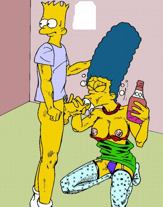 Marge Bart Simpson Drunk